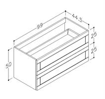Underskåp bänk Adagio 100 cm