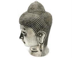 Brons - Silver Buddha ansikte 20cm (2 pack)