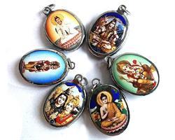 Medaljong - Hindu gudar mix (6 pack)