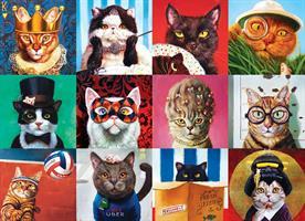 Puslespill Funny Cats Katter, 1000 brikker