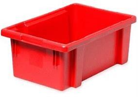 Transportkasse konisk 600x400x350mm rød