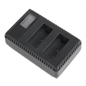 Dobbeltlader for Canon LP-E17 batterier m/Disp