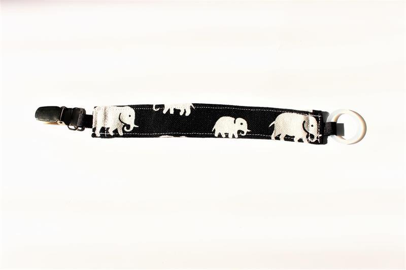 Napphållare svart med elefanter