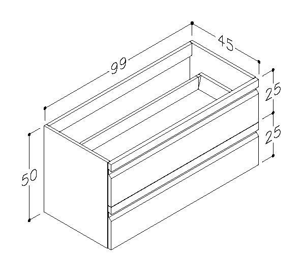 Underskåp bänk Terra 100 cm