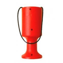 Innsamlingsbøsse Alpha håndholdt rød