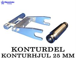 KONTURDEL + KONTURHJUL Ø 25 MM