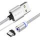 Type C til USB Lade Kabel (Magnetisk m/Plugg)