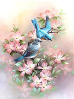 Diamond Painting, Fugler rosa 20*25cm (A3116) FPK