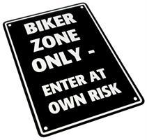 PARKING SIGN <BIKER ZONE ONLY>