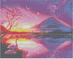 Diamond Painting, Lilla solnedgang 50*40cm FPK