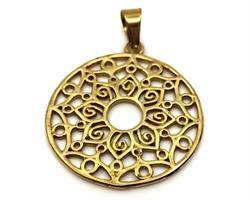 Halsband - Brons Lotus Mandala  (4 pack)