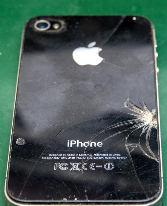 Knust iPhone 4s bakside