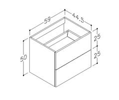Underskåp bänk Gama 60 cm