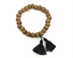Mala - Armband trä svart tofs (10 pack)