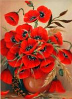 Diamond Painting, Blomster Valmuer 30*40cm (AP3387) FPK