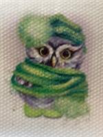 Diamond Painting, Ugle grønn 30*40cm (9730) FPK