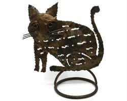 Smide - Ljusstake katt (12 pack)