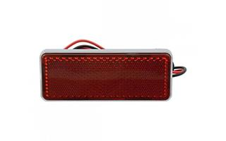 RED LED LIGHTED REFLECTOR