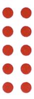 Vann Skade Indikator Klistremerke 10stk