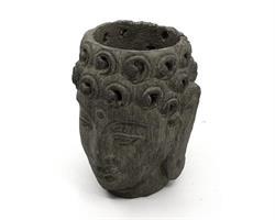 Buddha - Blomkruka grå 14cm (4 pack)