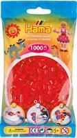 Hama perler Midi, Transparent Rød 207-13 1000stk
