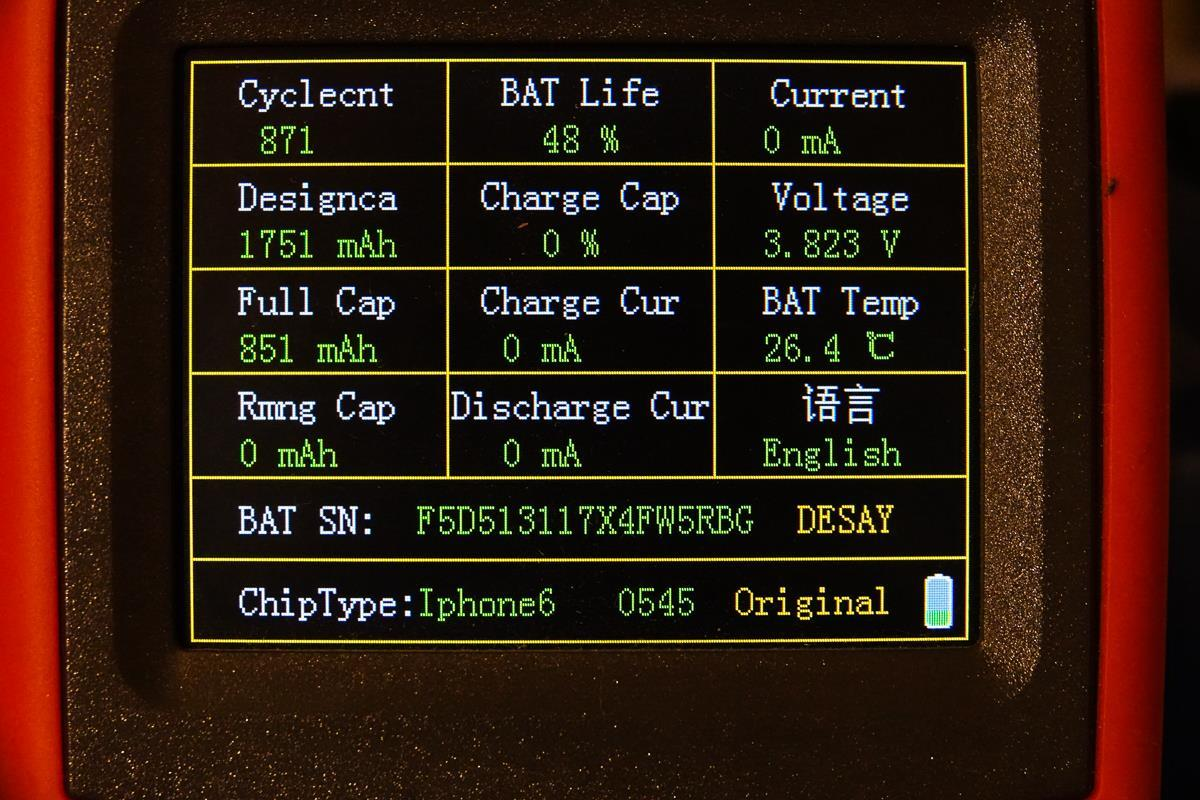 Batteri analyse