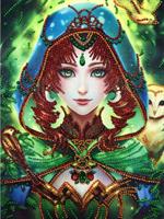 Diamond Painting, Prinsesse grønn 24*34cm (R8229) AP