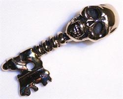 Halsband - Brons döskalle nyckel (3 pack)