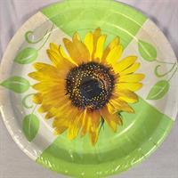 10 stk Sommer tallerken Sunflower