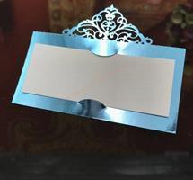 25 stk  Bordkort blå