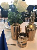 Bursdag Blå og gull 50