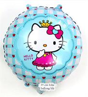 Hello Kitty Folie Ballong Blå