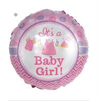 It's a Baby Girl Rund folie ballong