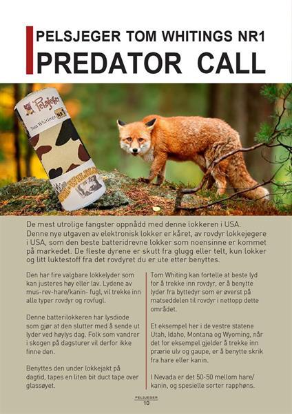 PELSJEGER Tom Whitings NR 1 Predator call