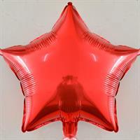 Folie - stjerne / rød 4 stk