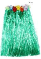 Hawaii Hula Skjørt 80 cm Grønn