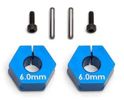 FT Clamping Wheel Hexes, 6.0mm