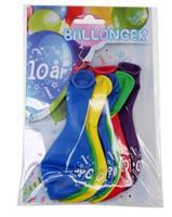 Tinka ballonger 8 pk 10 år Flerfarge