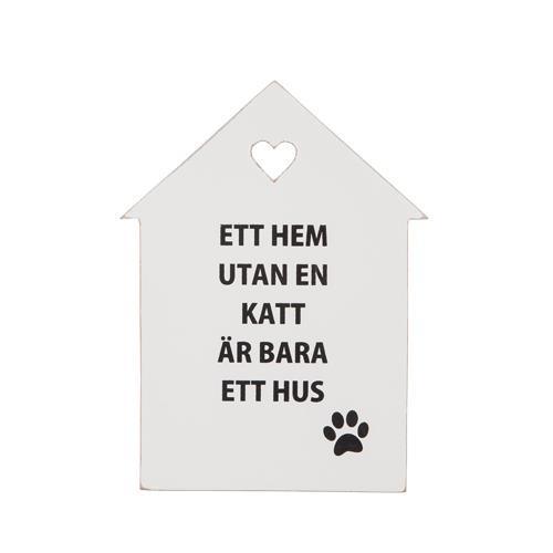 """Tavla """"Ett hem utan katt..."""""""