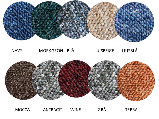 Reggiomattan passar för bygg och mys. Den finns i 10 färger och 17 storlekar.