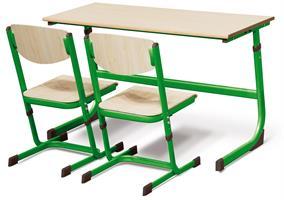Elevbord Ellen dubbel grön 3-6