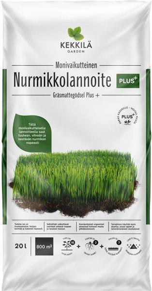 Kekkilä Nurmikkolannoite Plus 20L