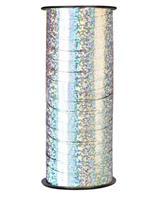 90 meter Julebånd - Sølv farge glitrende