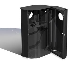 PutIn 1-kammer avfallsbeholder i stål