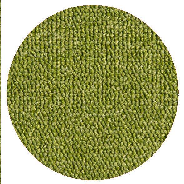Montessorimatta öglerad Ø 200 cm Lime