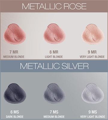 Evolution Metallics Färgkarta