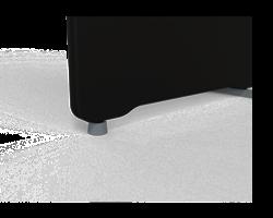 Rund fot Slim grå, ställbar ø 45 mm