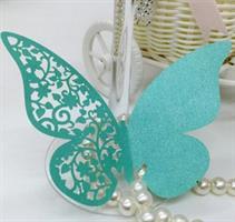 Bordkort - Blå sommerfugl