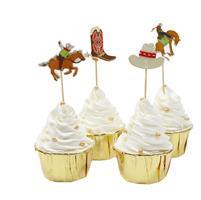 12 stk Cowboy Cupcake topper