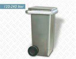 Avfallsbeholder 120 liter Aluminium